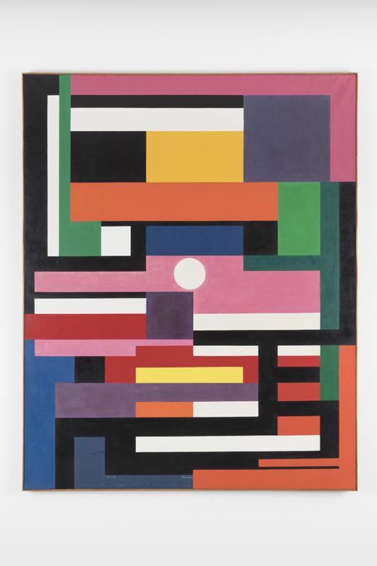 "Genevieve Claisse, ""Slalom"" (1960). 162x130 cm.Courtesy Galerie Denise René"