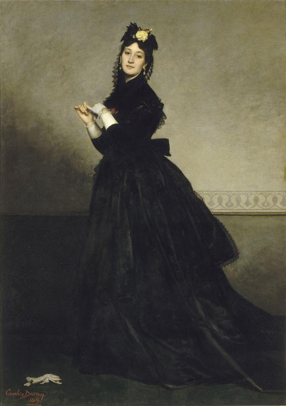 """Carolus-Duran, """"La dame au gant"""" (1869).Huile sur toile. Musée d'Orsay - Paris© RMN-Grand Palais musée d'Orsay - Hervé Lewandowski"""