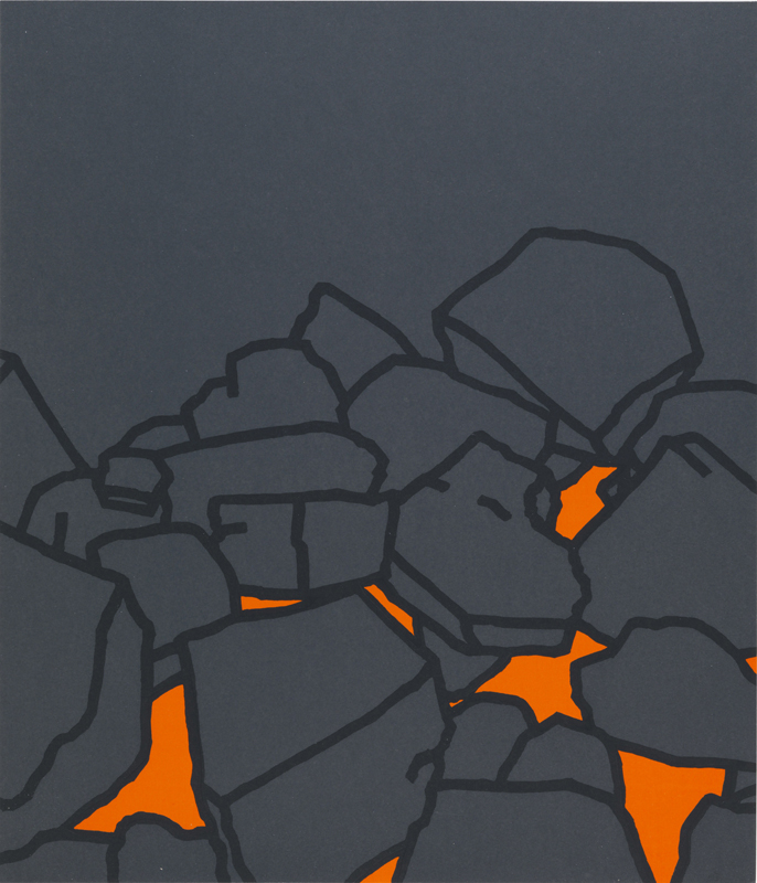 """Patrick Caulfield, """"Coal Fire"""" (1969)Sérigraphie© Tate© The Estate of Patrick Caulfield. All Rights Reserved, DACS / Adagp, Paris, 2020"""