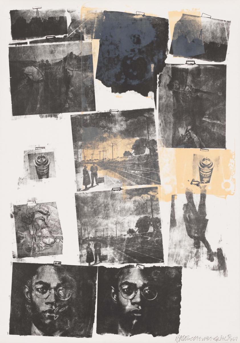 Robert Rauschenberg, Landmark, 1968, lithographie, 108 × 76,5 cm, acquis grâce au Comité des imprimé © Adagp, Paris, 2017 © 2008 - 2015 ULAE