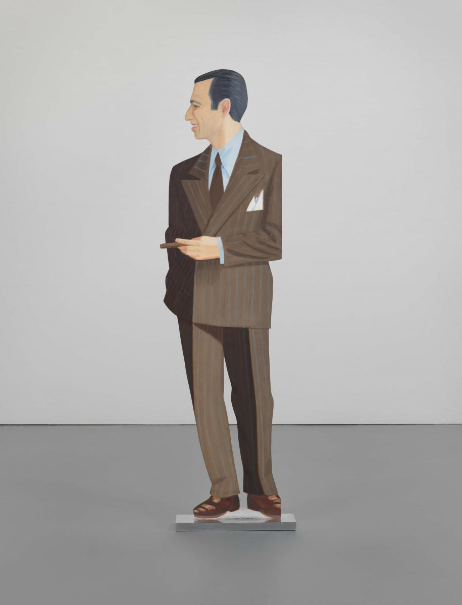 Alex Katz, Alex, 1968, huile sur aluminium, 182,2 x 47,6 x 11,4 cm, gift of the artist in honor of Leonard A. Lauder N.Y. © Alex Katz / Adagp, Paris, 2017