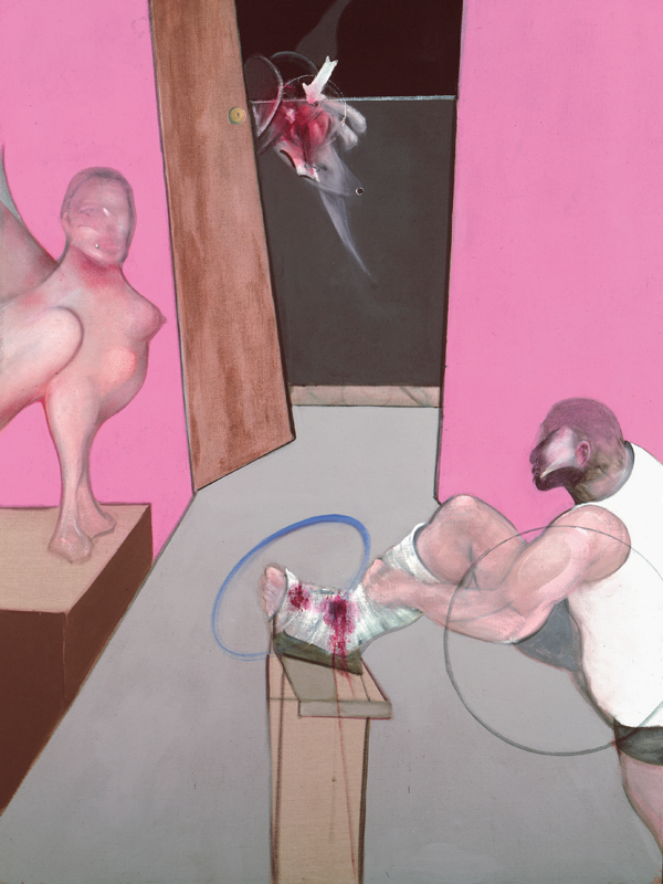 "Francis Bacon, ""Oedipus and the Sphinx after Ingres"" (1983) © The Estate of Francis Bacon /All rights reserved /Adagp, Paris and DACS, London 2019 © The Estate of Francis Bacon. All rights reserved. DACS/Artimage 2019. Photo: Prudence Cuming Associates Ltd"