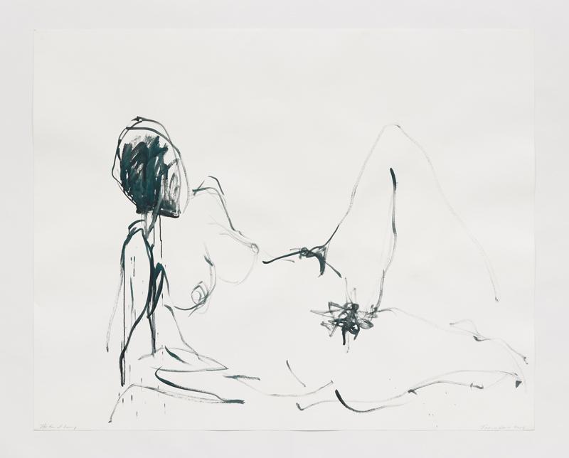 """Tracey Emin, """"La peur d'aimer"""" (2018). Acrylique sur papier, 121,5 x 152 cm © The Artist / courtesy White Cube / Photo Prudence Cuming Associates, London, © Adagp, Paris, 2019"""