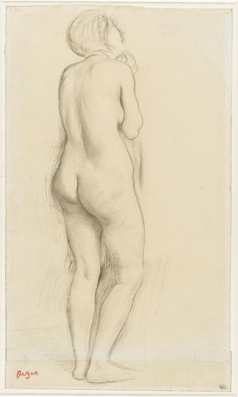 """Degas Edgar(1834-1917), """"Femme nue, debout, de dos, tournée vers la droite"""". Paris, musée d'Orsay, conservé au musée du Louvre. Photo © RMN-Grand Palais (musée d'Orsay) / Thierry Le Mage"""