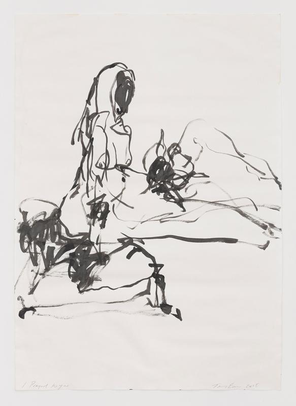 """Tracey Emin, """"I Prayed to you""""(2018). Acrylique sur papier 83.1 x 58.7 cm © Tracey Emin. Droits réservés, Courtesy White Cube, Adagp, Paris, 2019"""