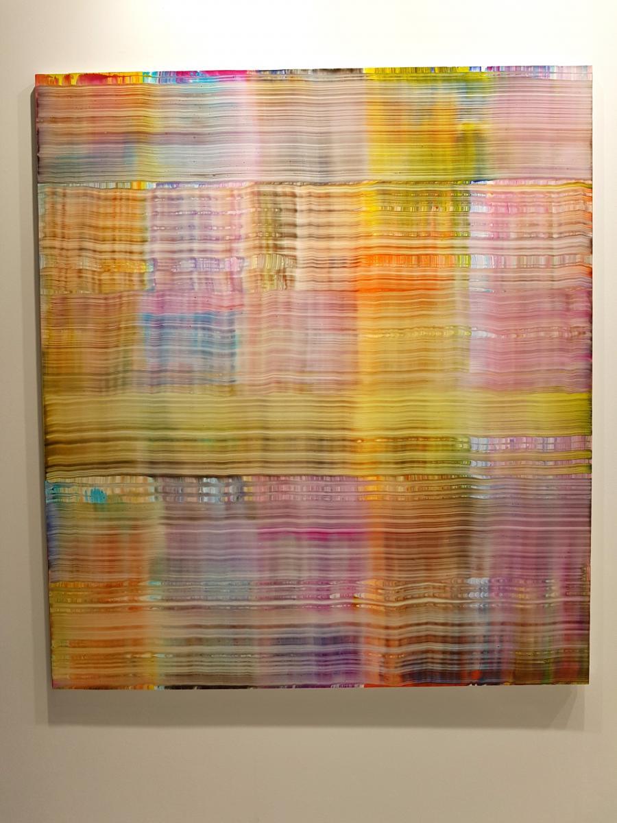 Bernard Frize, Lott, 2017-10-19 Acrylique et résine sur toile, châssis en aluminium 180 x 160 cm Unique