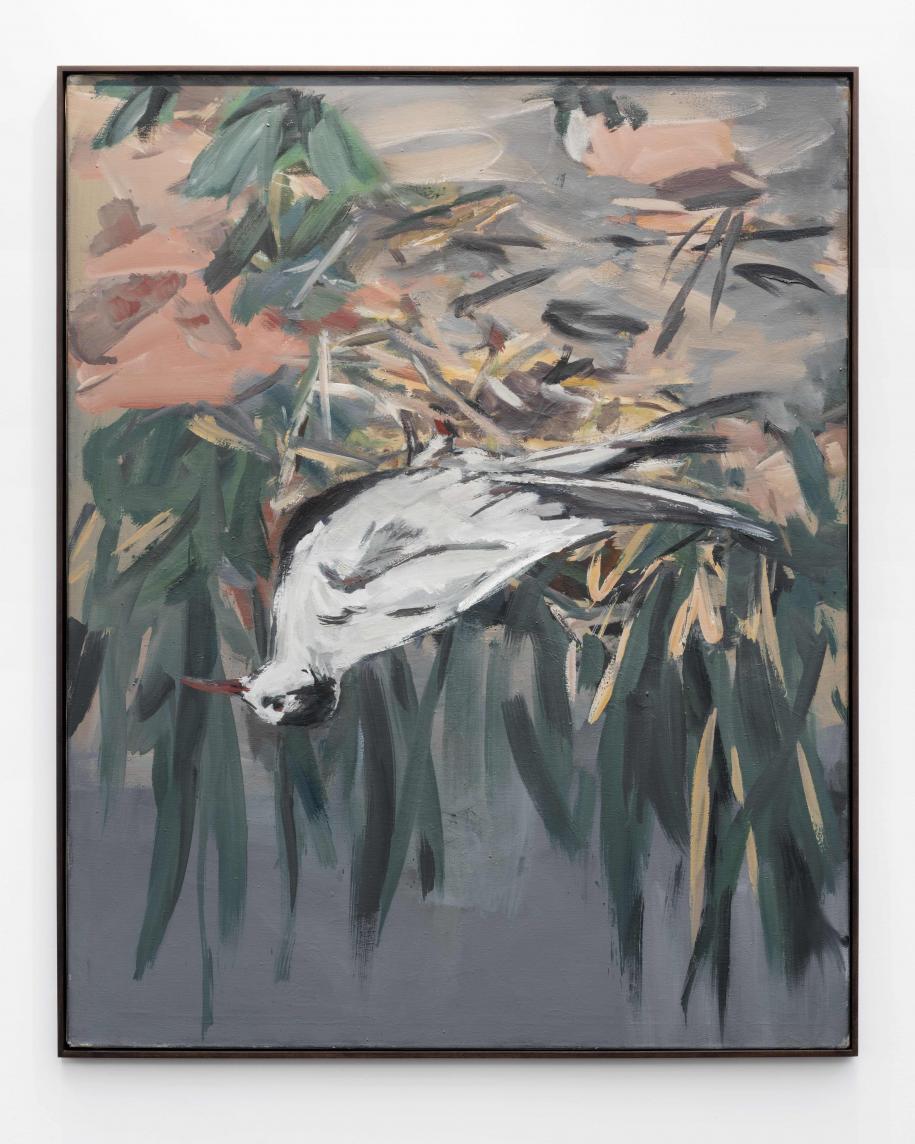 Il restait encore un Georg Baselitz en fin de journée accroché sur le stand Ropac: Trauerseeschwalbe, 1972. Huile sur toile, 162,5 x 130,7 cm. Courtesy Galerie Thaddaeus Ropac, London, Paris, Salzburg.