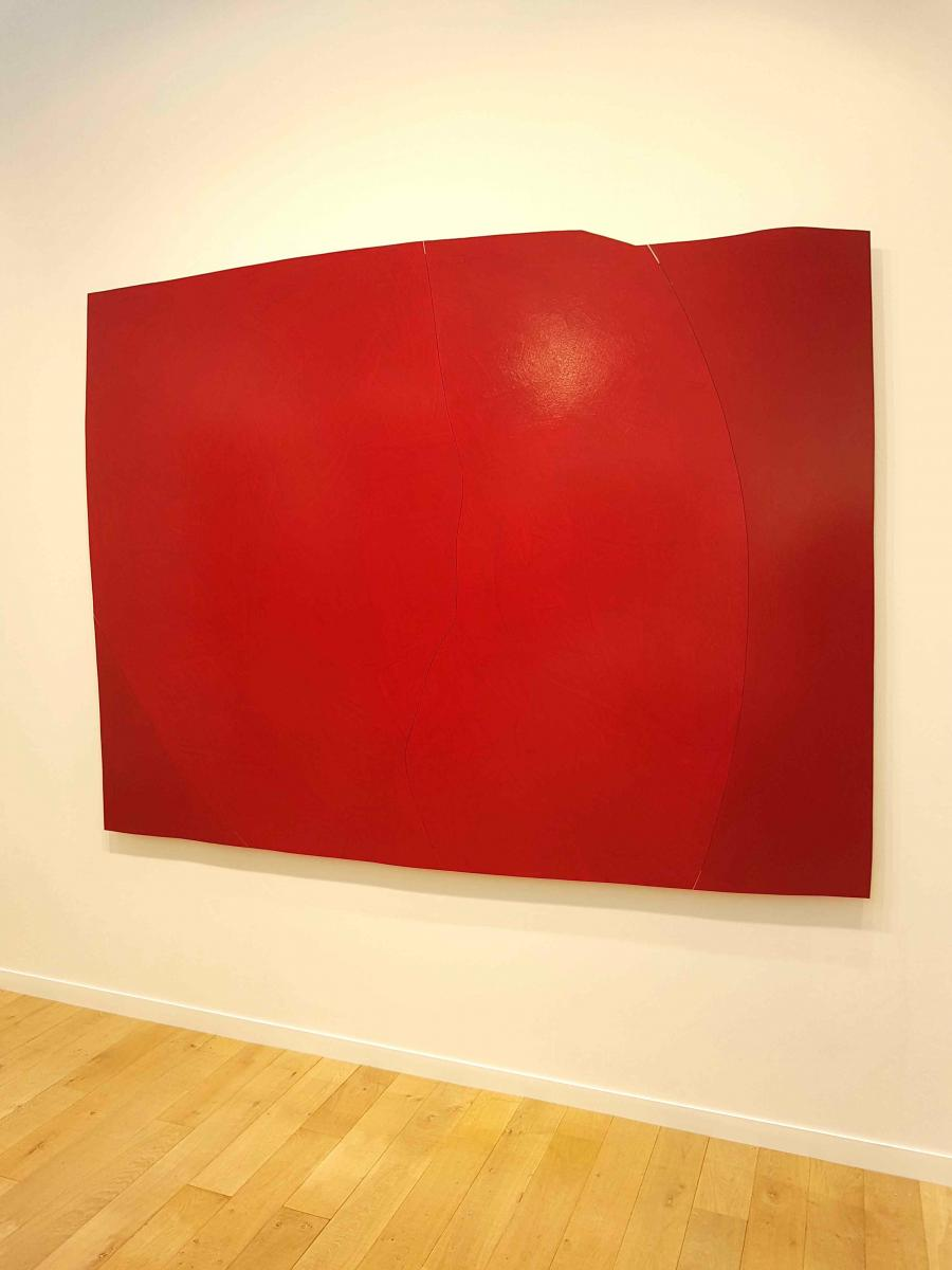 Imi Knoebel, Schnitt 13, 06, 2017. 2017 Acrylique, aluminium 117 x 237,6 x 4,5 cm (69.69 x 93,54 x 1,77 in)