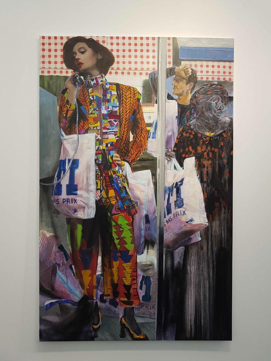 Paulina Olowska, Tati 1, 2017 Oil and acrylic on canvas 220 x 139,7 cm