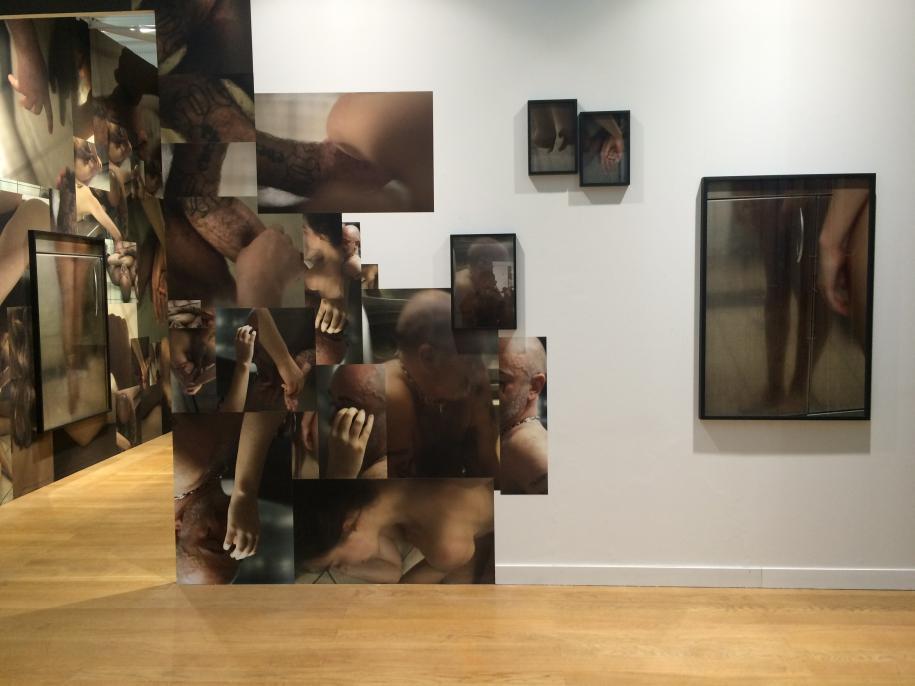 Vue de l'installation de Douglas Gordon à Paris Photo 2016.