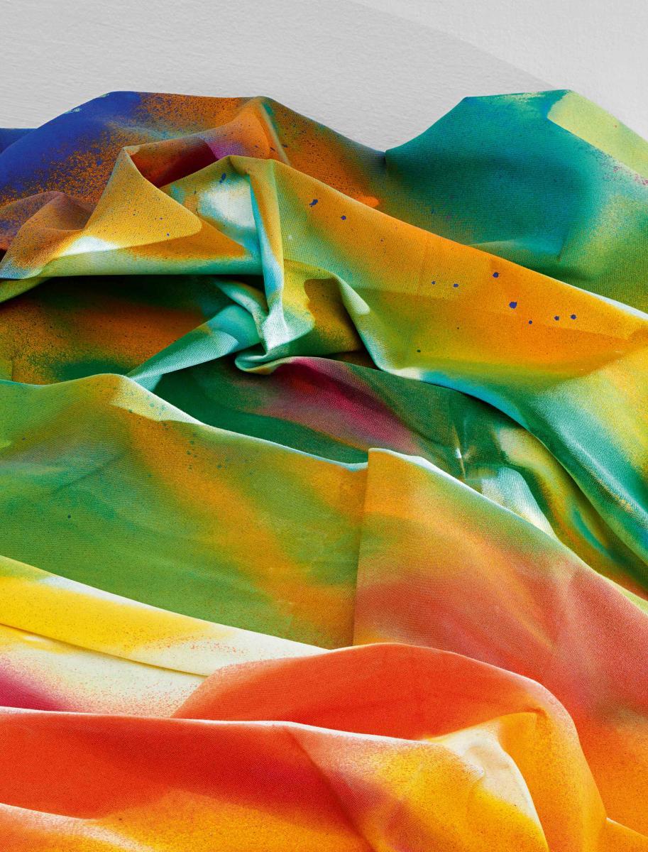"""Ingres Wood"", Katharina Grosse, 2018, 255 x 555 x 2,360 cm."