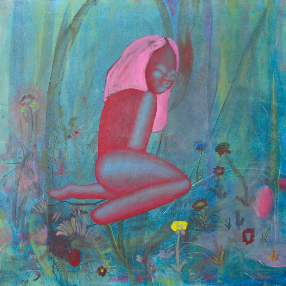 """Matthias Garcia, """"The Lure""""(2020). Huile sur toile, 80 x 80 cm. Courtesy Galerie Sultana © Aurélien Mole"""