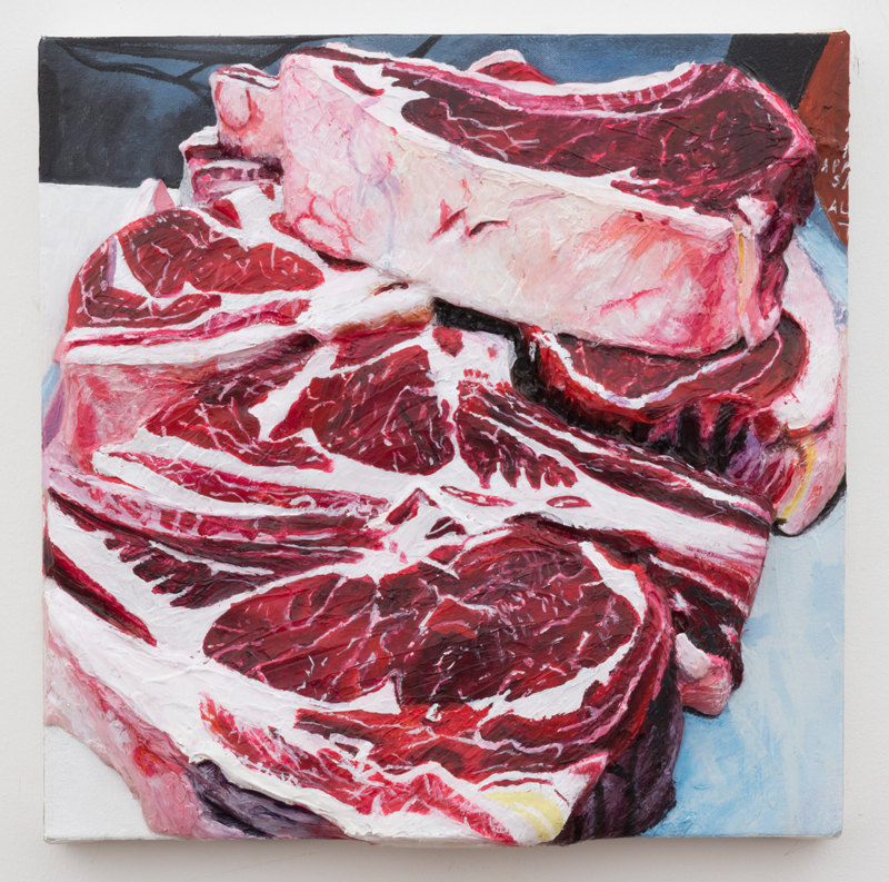"Gina Beavers, ""Local Pasteurized Beef"" (2014). Courtesy de l'artiste."