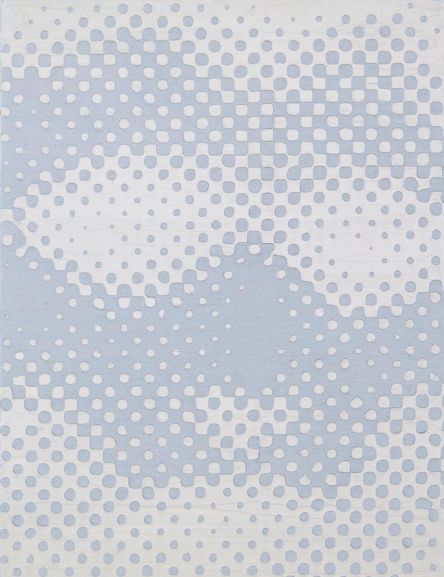 Theories of Engineering (détail) (2015) de Richard Philipps. Huile et émulsion de cire sur deux toiles de lin, 101,6 x 76,2 cm chacune.