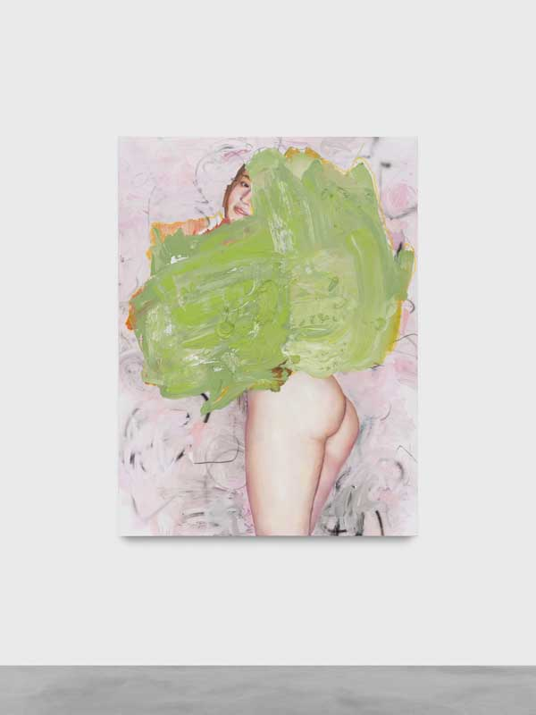 """Nude and Colors, Green"", Ida Tursic & Wilfried Mille, 2018. Courtesy Almine Rech gallery."