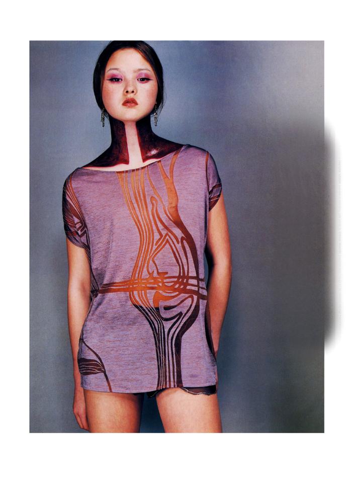 Printemps-été1997, photographe Horst Diekgerdes Mannequin : Dewon Aoki ©Horst Diekgerdes