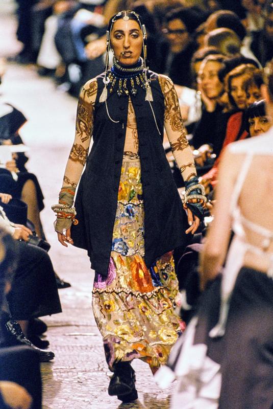 """Jean Paul Gaultier, collection """"Les Tatouages"""", prêt-à-porter printemps-été 1994."""