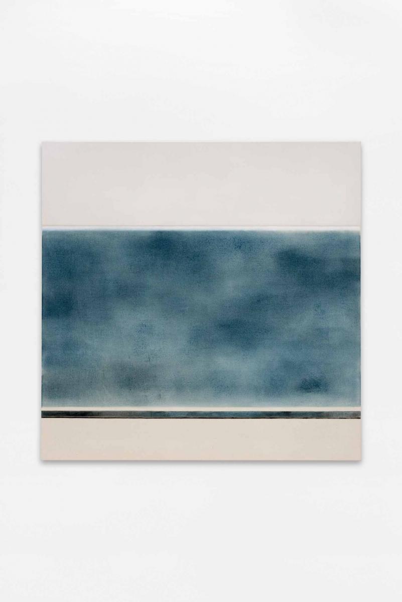 Une heure,Julie Beaufils,2018, huile et graphite sur toile.
