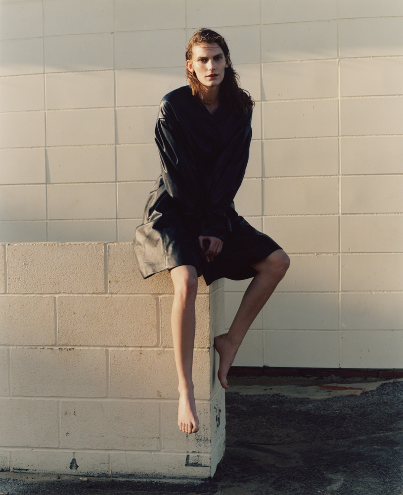 Manteau en cuir, DROME.