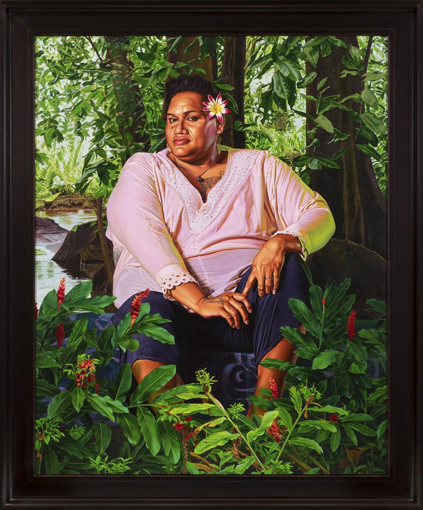 Portrait of Geysha Kaua, (2019), huile sur toile, 174 x 144,5 cm.© Diane Arques.