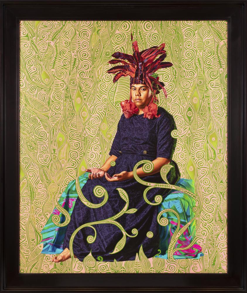 Portrait of Moerai Matuanui, (2019), huile sur toile, 210,5 x 180 cm.© Diane Arques.