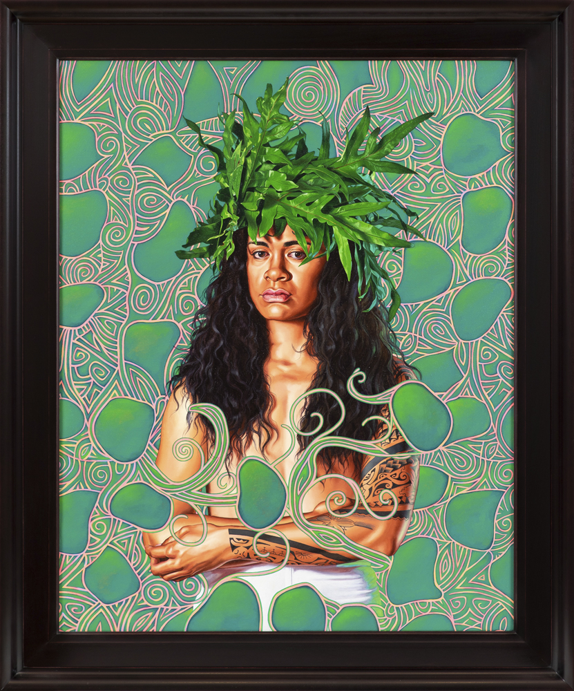 Portrait of Tuatini Manate, (2019), huile sur toile, 137 x 114 cm.© Diane Arques.