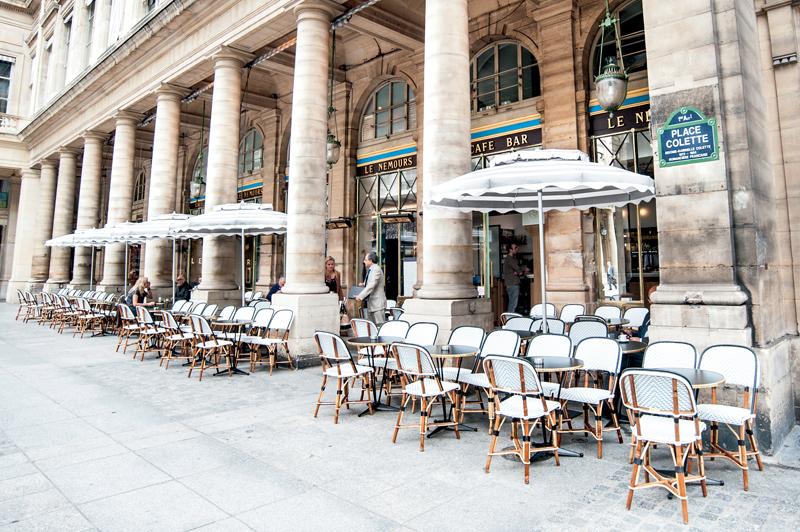 La terrasse du Nemours place Colette 75001