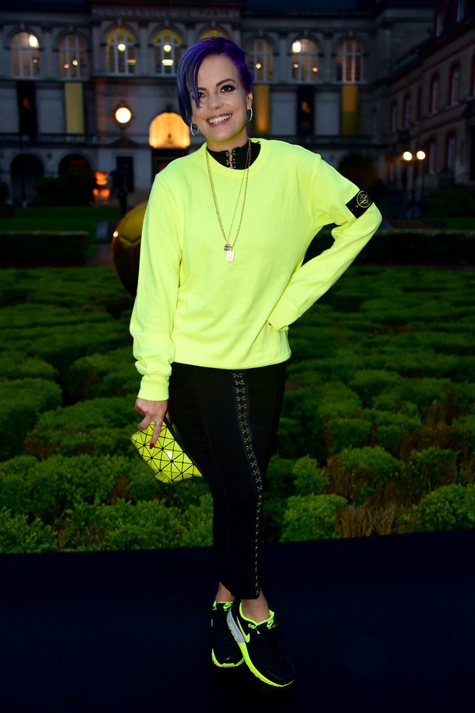 Lily Allen at the NikeLab x Olivier Rousteingcollaborationlaunch party. 