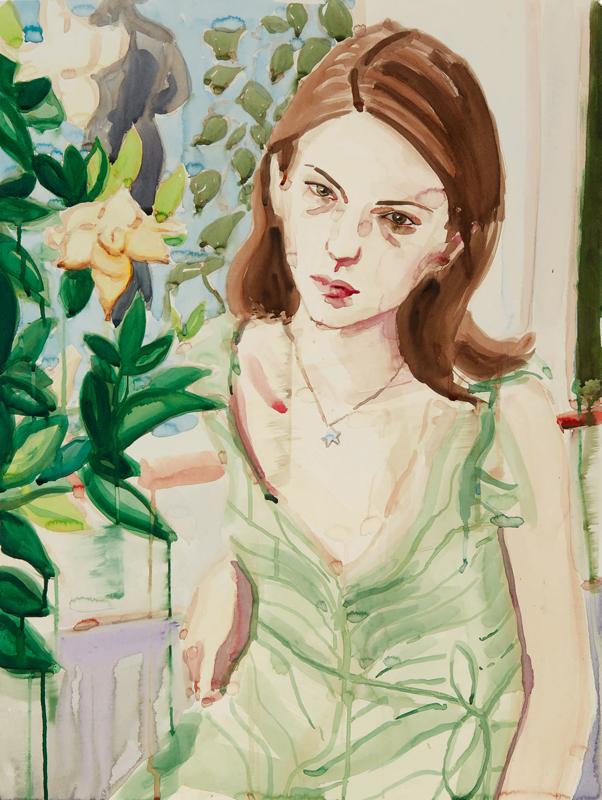 "Elizabeth Peyton, ""Sofia"" (2003). Estimé à 80 000-120 000 $."