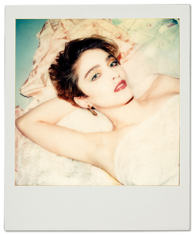 Polaroid of Madonna by Maripol.