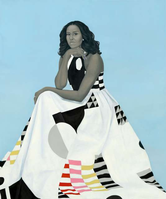 Portrait of Michelle Obama by Amy Sherald.