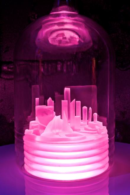 Mike Kelley, Kandor 10B (Exploded Fortress of Solitude), 2011, Mixed media, 289.6 x 1524 x 2286 cm / 114 x 600 x 900.