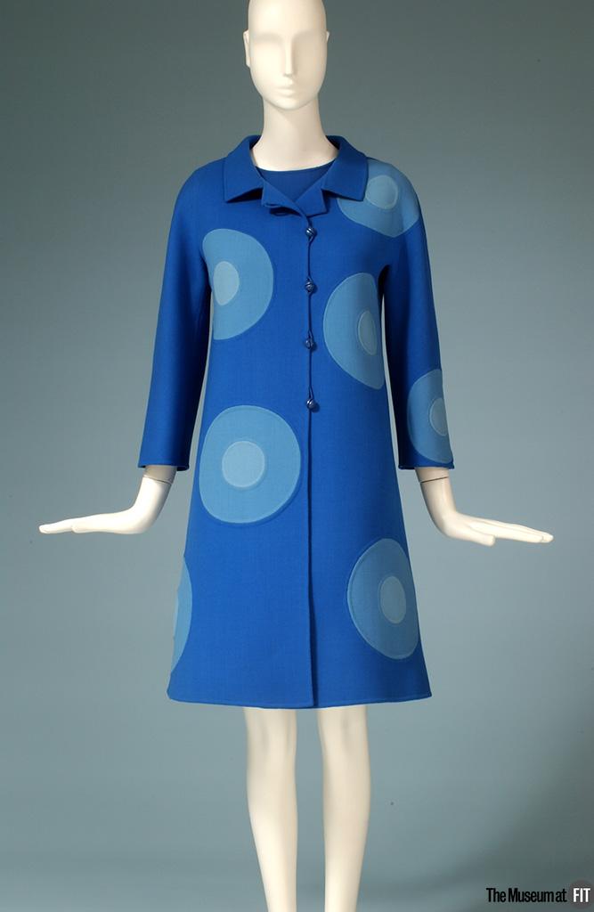 Robe et manteau en laine à double face MilaSchön, 1968, Italie.