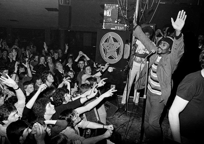 """""""Misty in Roots, concert Rock Against Racism - Militant Entertainment tour"""", 1979 © Syd Shelton"""