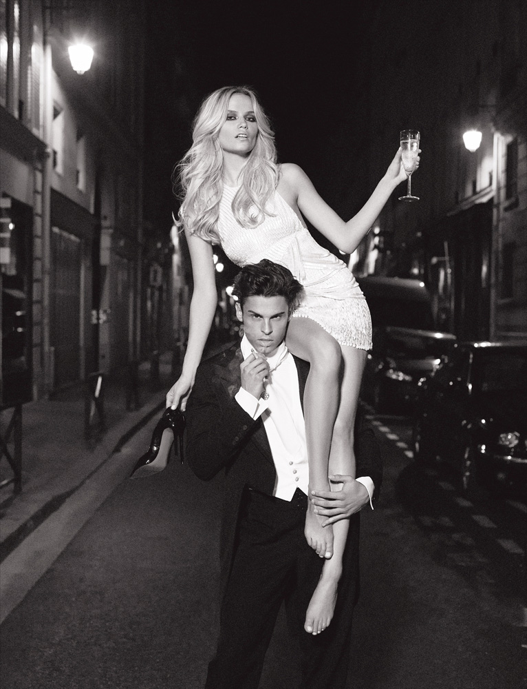 Numéro #116 Septembre 2010. Mannequins : Natasha Poly en Atelier Versace et Baptiste Giabiconi. Make up : Llyod Simmonds. Hair : Laurent Philippon.