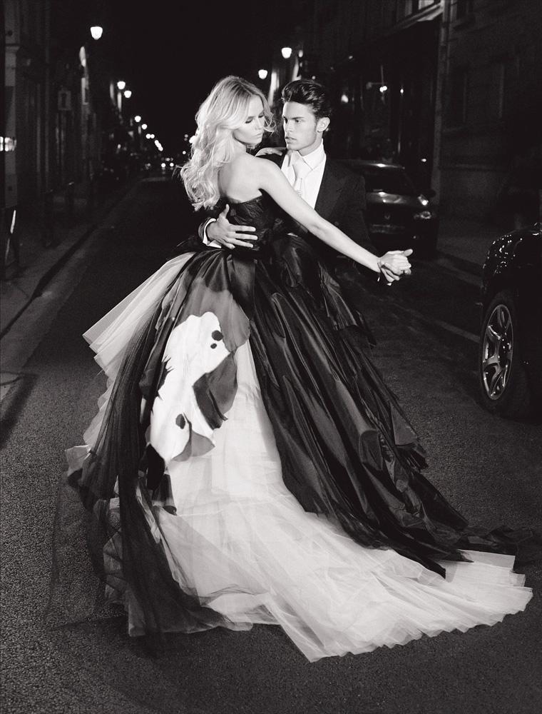 Numéro #116 Septembre2010. Mannequins : Natasha Poly en Dior Haute Couture et Baptiste Giabiconi. Make up : Llyod Simmonds. Hair : Laurent Philippon.