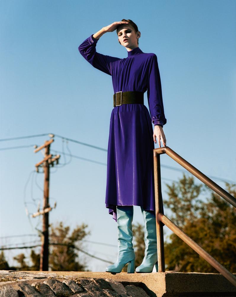 """Exclusif : la série mode """"Seule dans la ville"""" par Jeff Bark"""