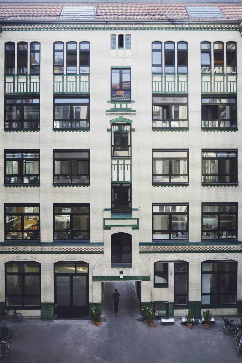 La façade intérieur duMykita-Haus, le quartier général de la maison berlinoise.