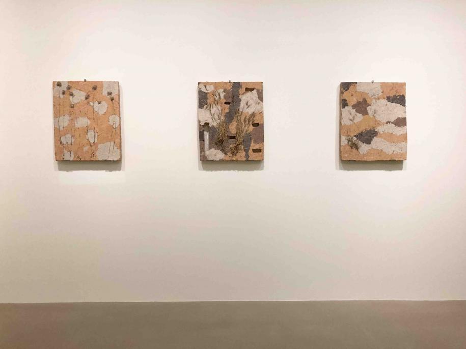 Vue de l'exposition. Détail de l'installation de Natsuko Uchino.