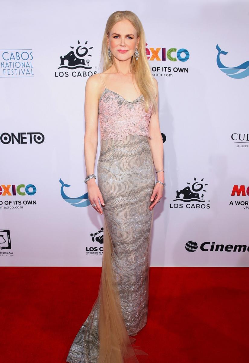 Nicole Kidman en Ermanno Scervino sur mesure.