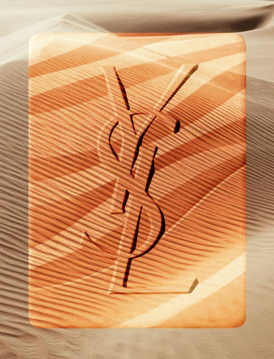 """Les Sahariennes Bronzing Stones, n°02 fire opal"", YVES SAINT LAURENT."