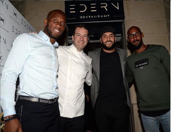 Didier Drogba, Jean-Edern Hurstel, Slimane et Nicolas Anelka