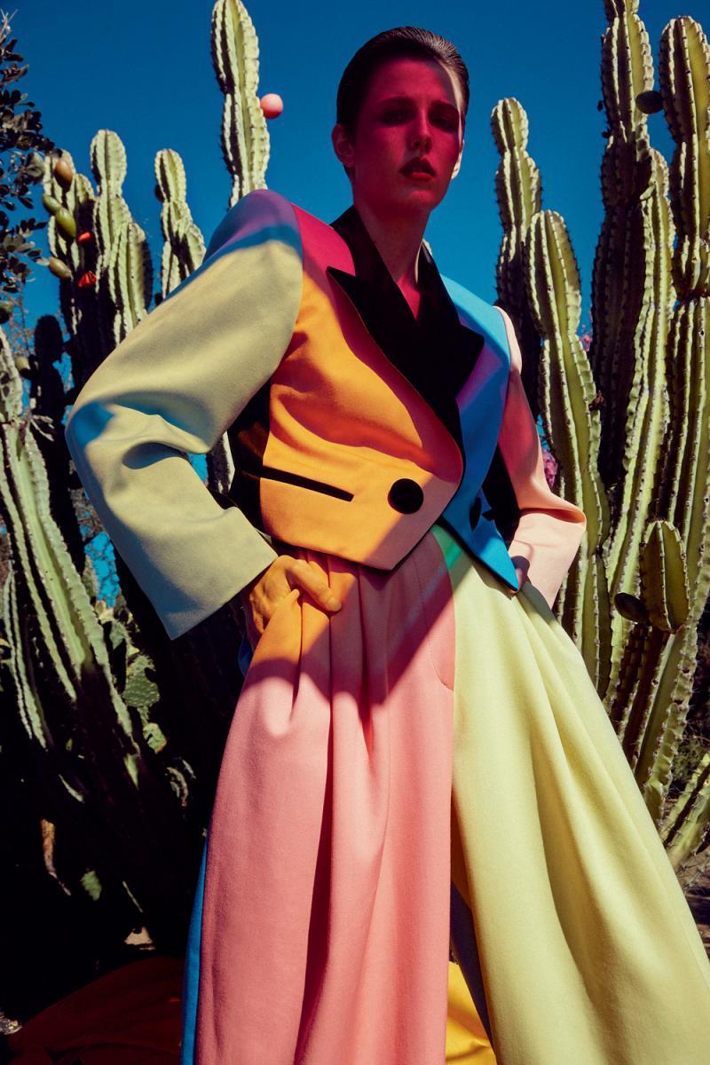 Veste et pantalon en laine multicolore, MARC JACOBS.
