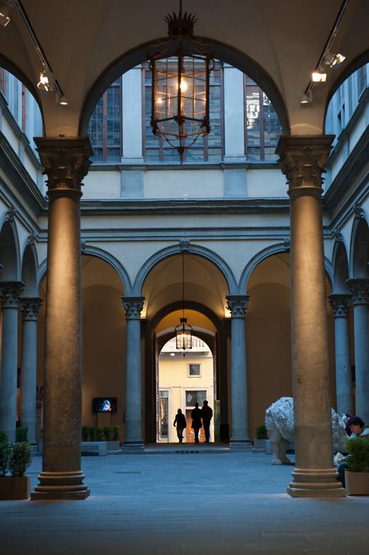 La cour du Palazzo Strozzi.