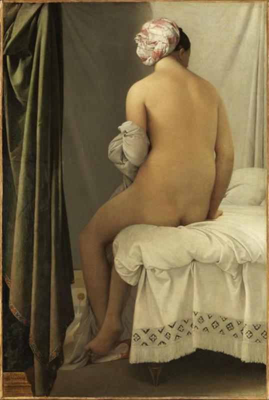 """""""La Baigneuse"""", dite """"Baigneuse de Valpinçon"""", Jean-Auguste-Dominique Ingres, 1808© 2015 RMN-Grand Palais (musée du Louvre) / Philippe Fuzeau"""