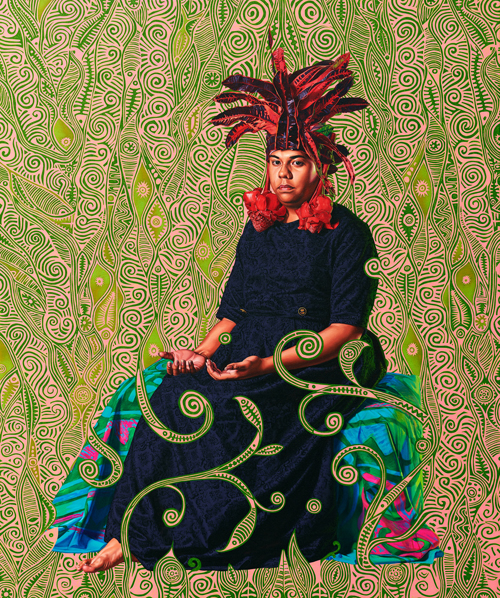 "Kehinde Wiley, ""Portrait of Moerai Matuanui"" (2019). Courtesy Templon, Paris & Brussels, © 2019 Kehinde Wiley"