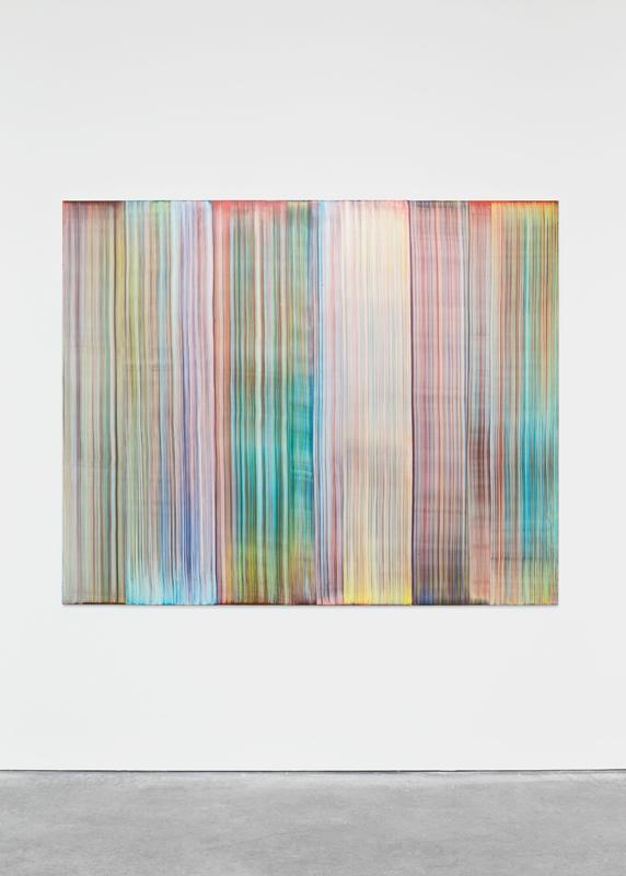Bernard Frize à la galerie Perrotin.