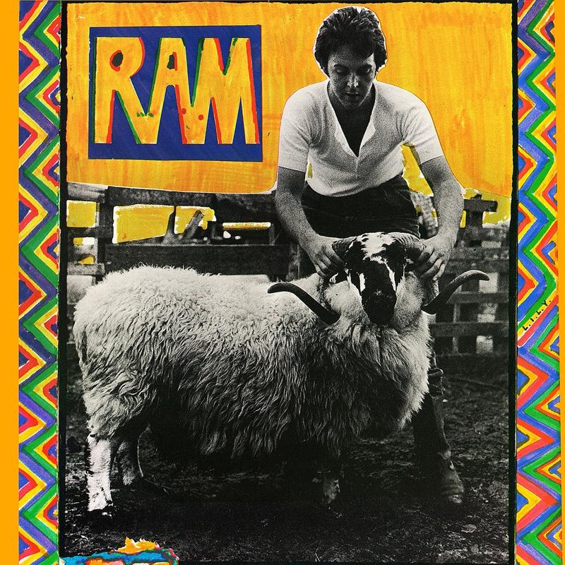 """La pochette de """"Ram"""" par Paul et Linda McCartney."""