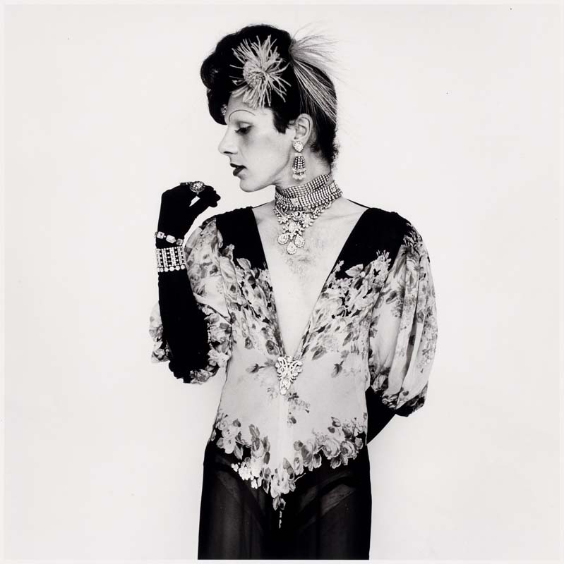 Peter Hujar, Cockette John Rothermel, in fashion pose(1971).