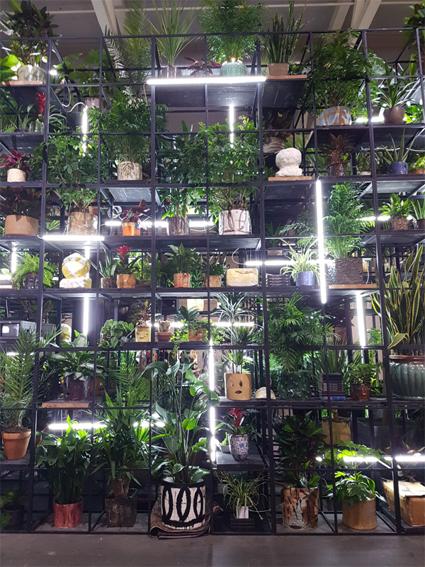 Installation from Rashid Johnson at Art Basel Unlimited 2018.